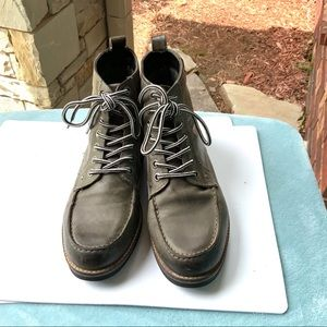 Crevo Buck Leather Boot Gray Memory Foam Boots 11